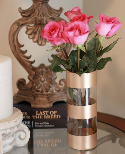 72 Gold Leaf Vase via simphome