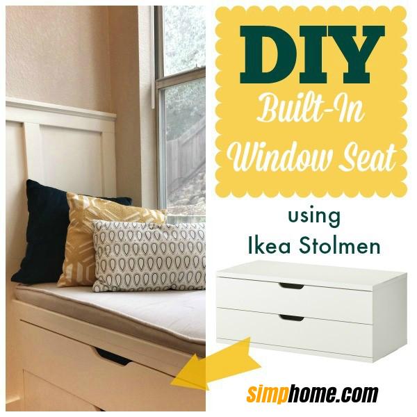 A WINDOW SEAT MADE FROM IKEA STOLMEN via Simphome 1 via simphome