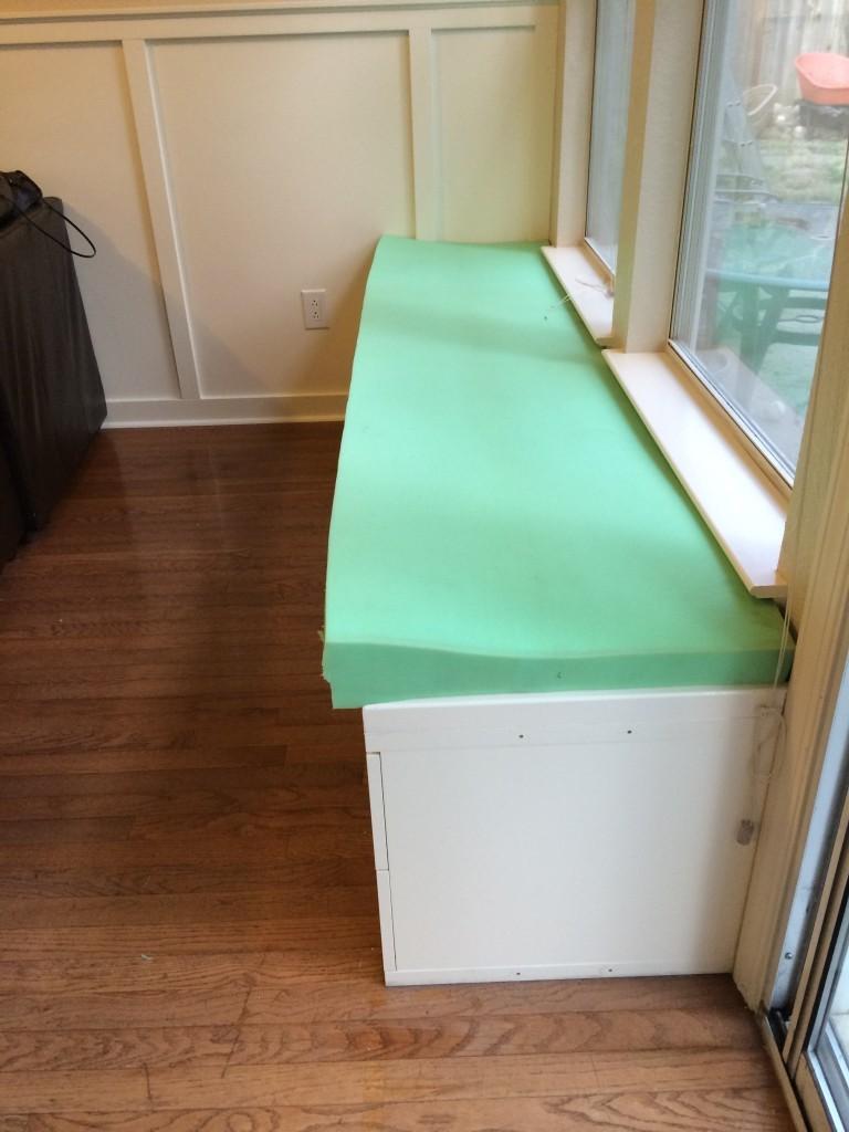 A WINDOW SEAT MADE FROM IKEA STOLMEN via Simphome Process 6