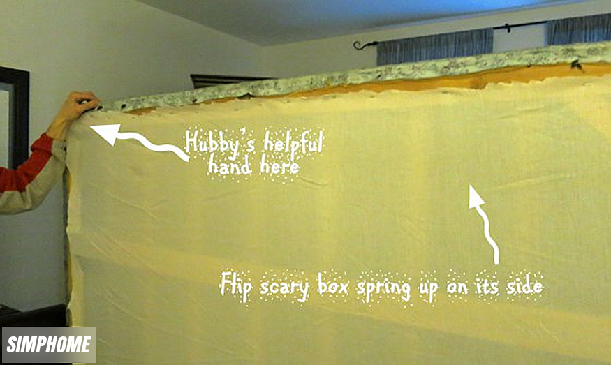 DIY box spring covers via simphome 4