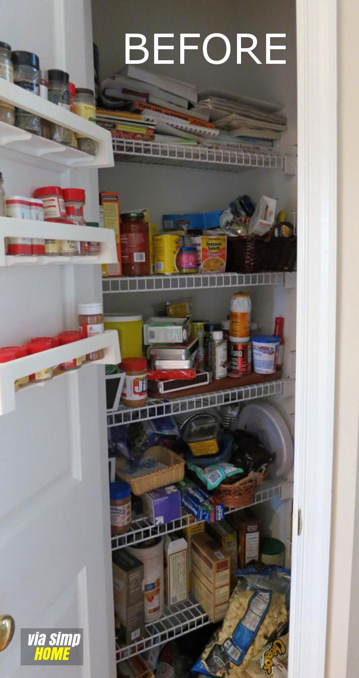 Effective Pantry Organizing ideas revealed Simphome com Before