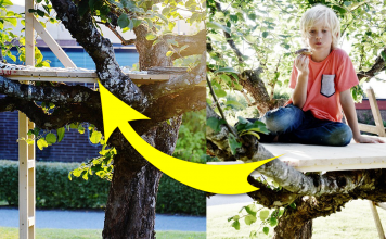 HOW TO BUILD A SIMPLE A ROOFLESS TREE HOUSE FOR KID featured Simphome