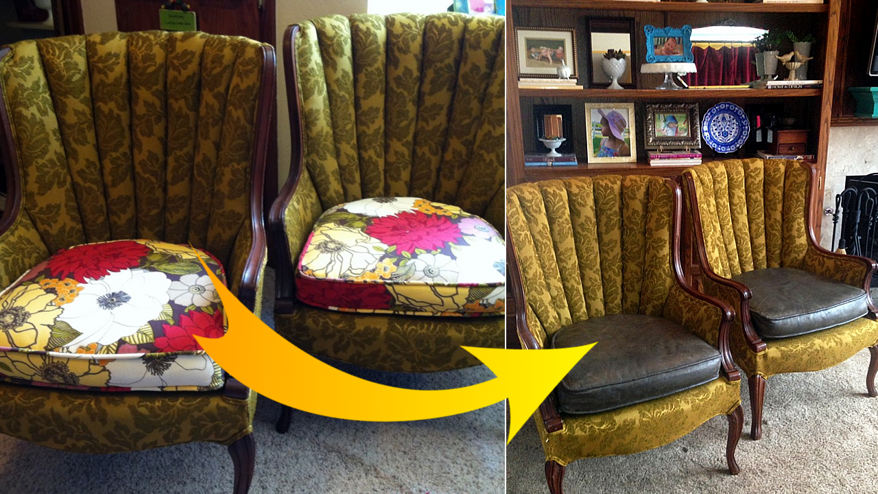 How to Paint Fabric properly and make it look like a real Leather via simphome featured