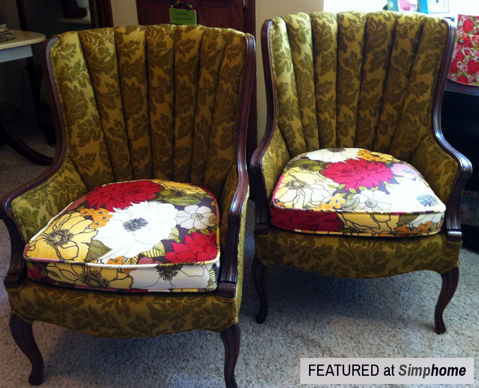 How to Paint Fabric to make it look like Leather via simphome Before 2