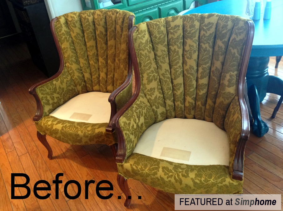 How to Paint Fabric to make it look like Leather via simphome Before