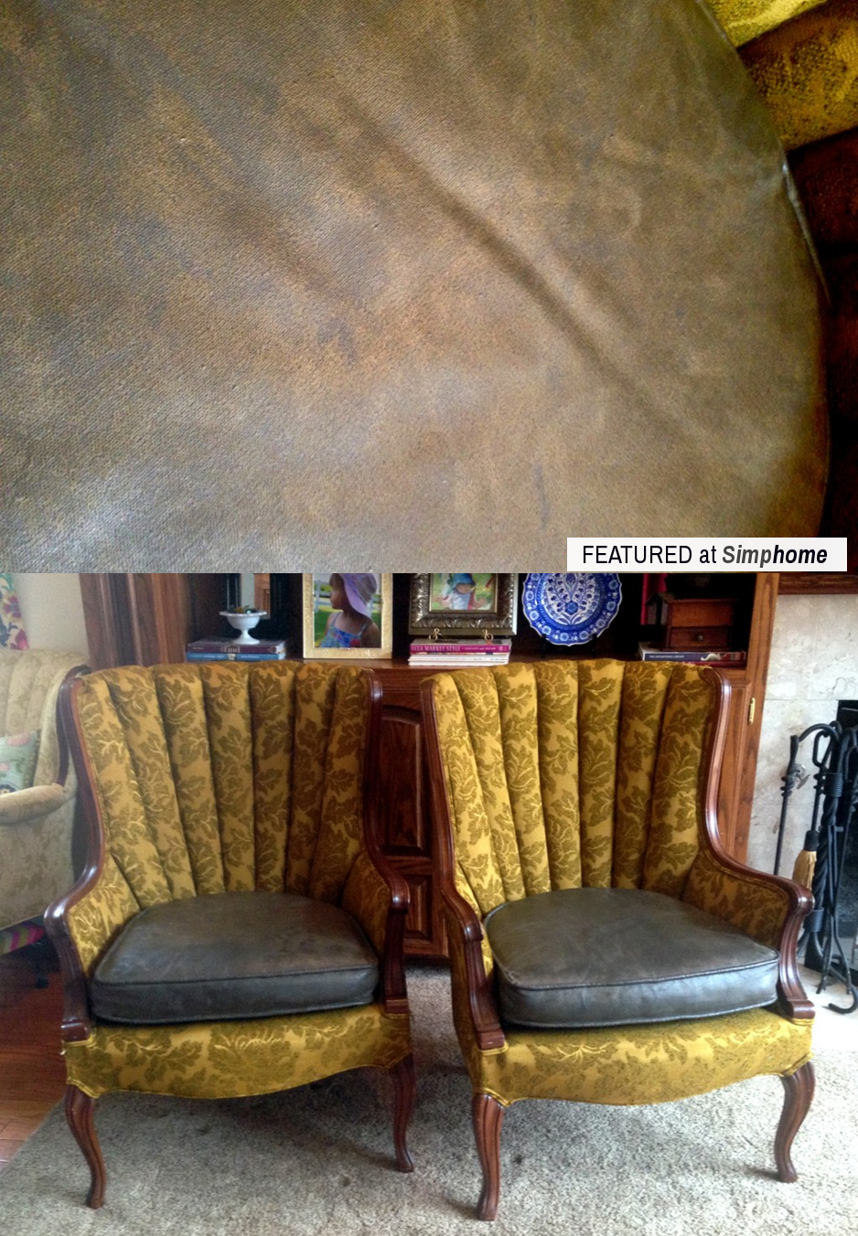 How to Paint Fabric to make it look like Leather via simphome Result 1