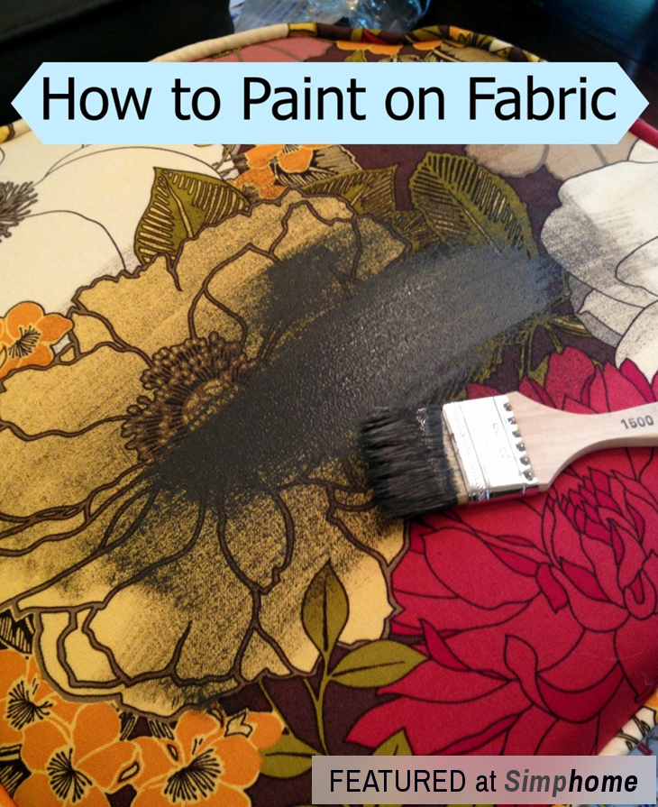 How to Paint Fabric to make it look like Leather via simphome Step 2