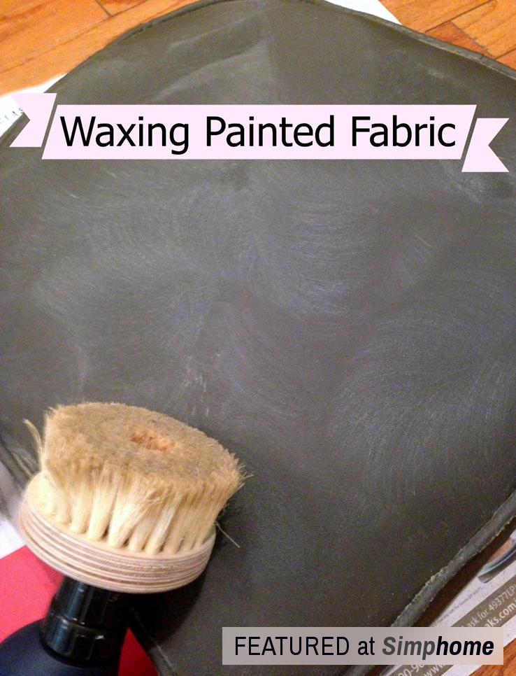 How to Paint Fabric to make it look like Leather via simphome Step 3