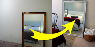 How to Refresh an Antique Mirror with spray paint via simphome featured