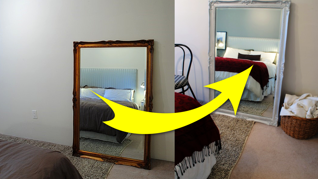 How To Refresh An Antique Mirror With Spray Paint Simphome