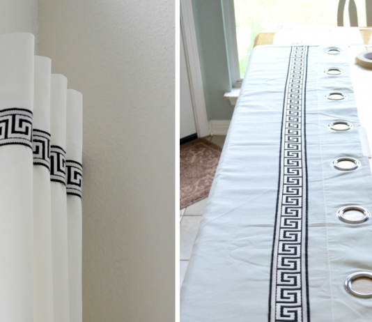 How to Turn Plain Ikea Curtains Into White Columns of gorgeousness simphome featured