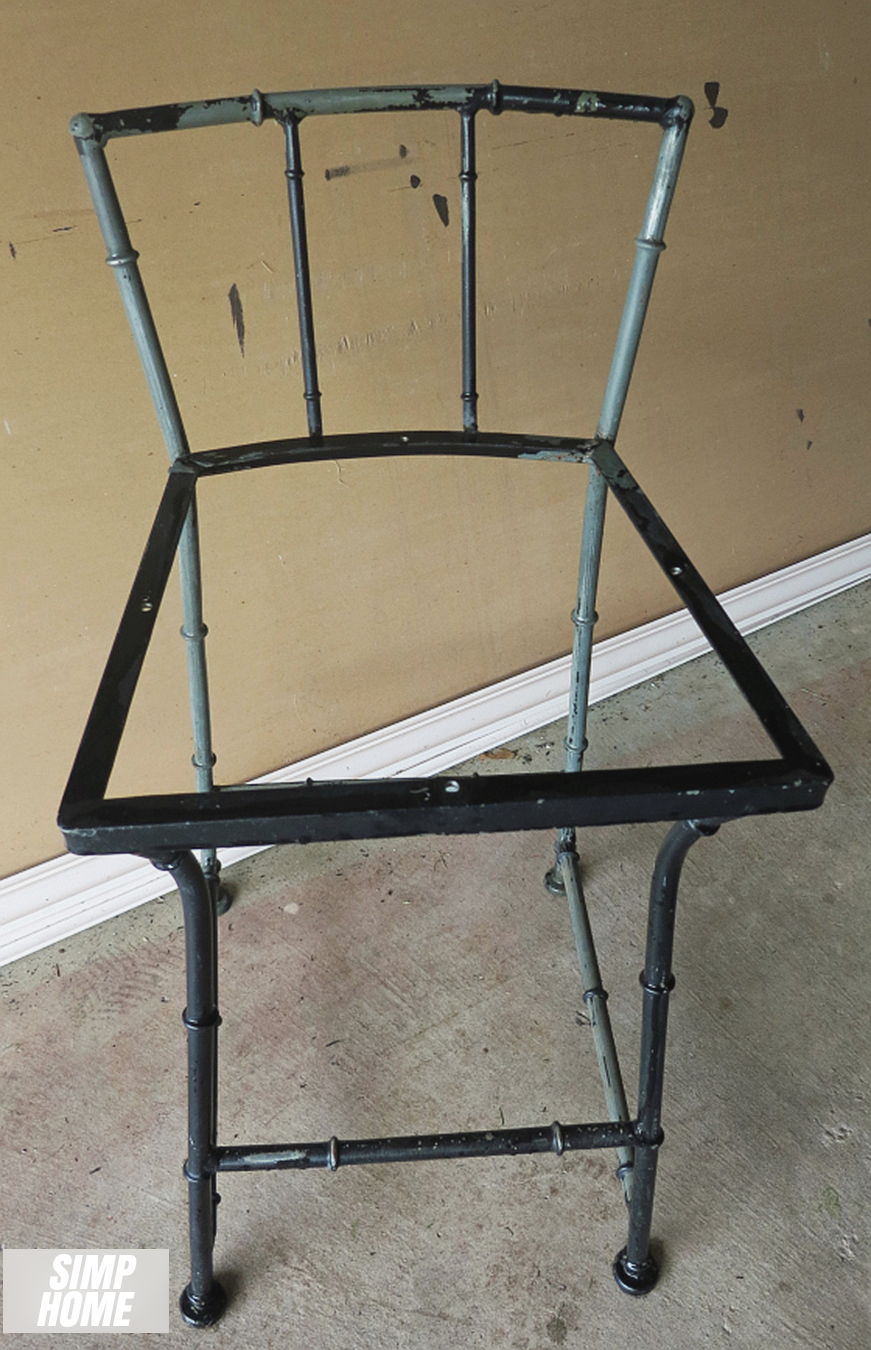 How to makeover Old Rustic Bar Stool using spray paint via simphome 2