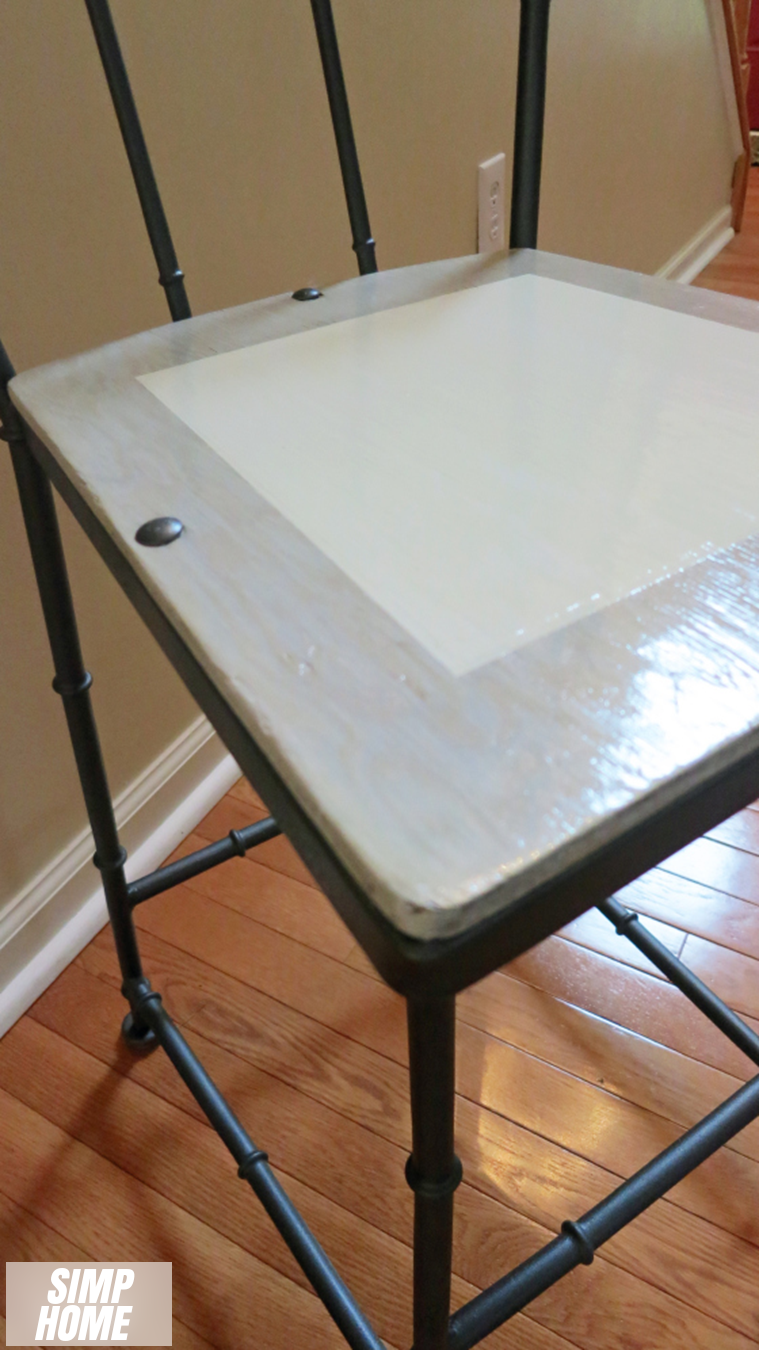 How to makeover Old Rustic Bar Stool using spray paint via simphome 3