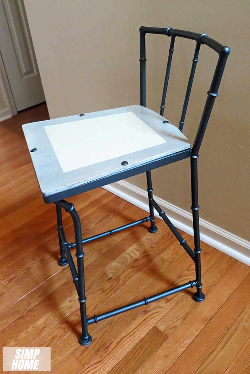 How to makeover Old Rustic Bar Stool using spray paint via simphome 4