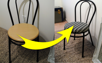 How to refresh a Boring Little Bistro Chair via simphome featured