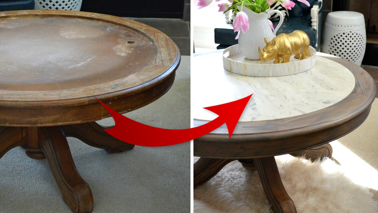 How to turn Ugly Coffee Table to A Marble like Coffee Table simphome featured