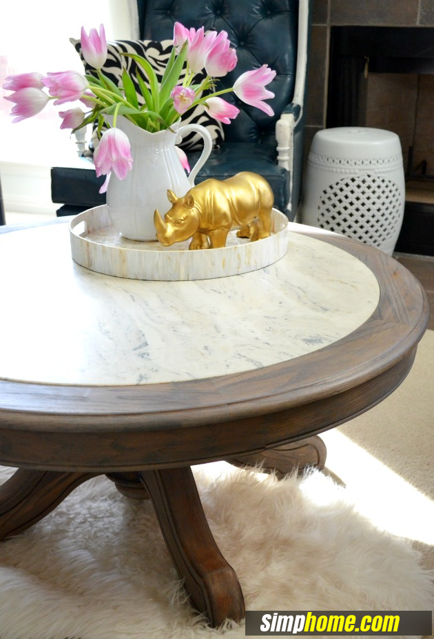 How to turn Ugly Coffee Table to Marble like coffee table via simphome 6