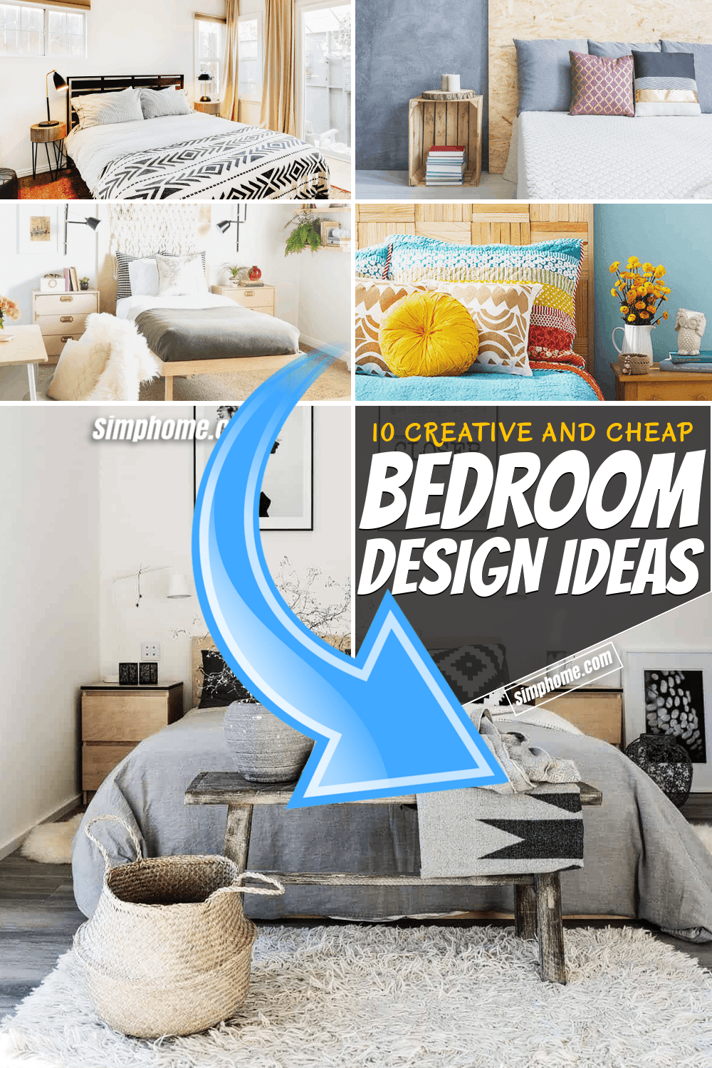 Simphome.com 10 Bedroom Design Idea for Cheap Pinterest Featured Image