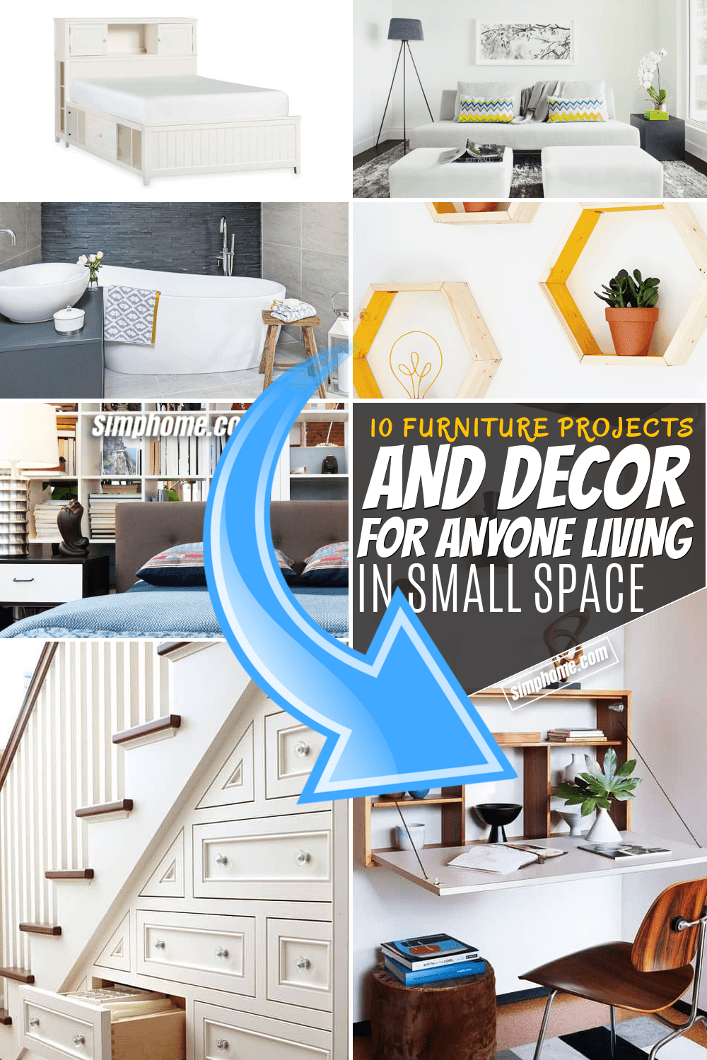 Simphome.com 10 Home Decor Furniture Ideas for Anyone Living in A Small Space Pinterest Featured Image
