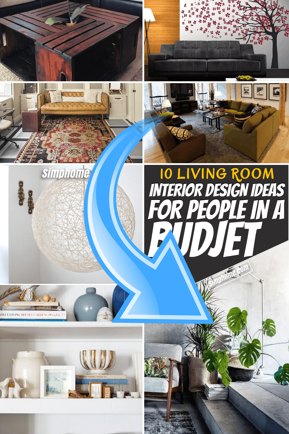 Simphome.com 10 Living Room Interior Design Ideas for People in a Budget Feature image