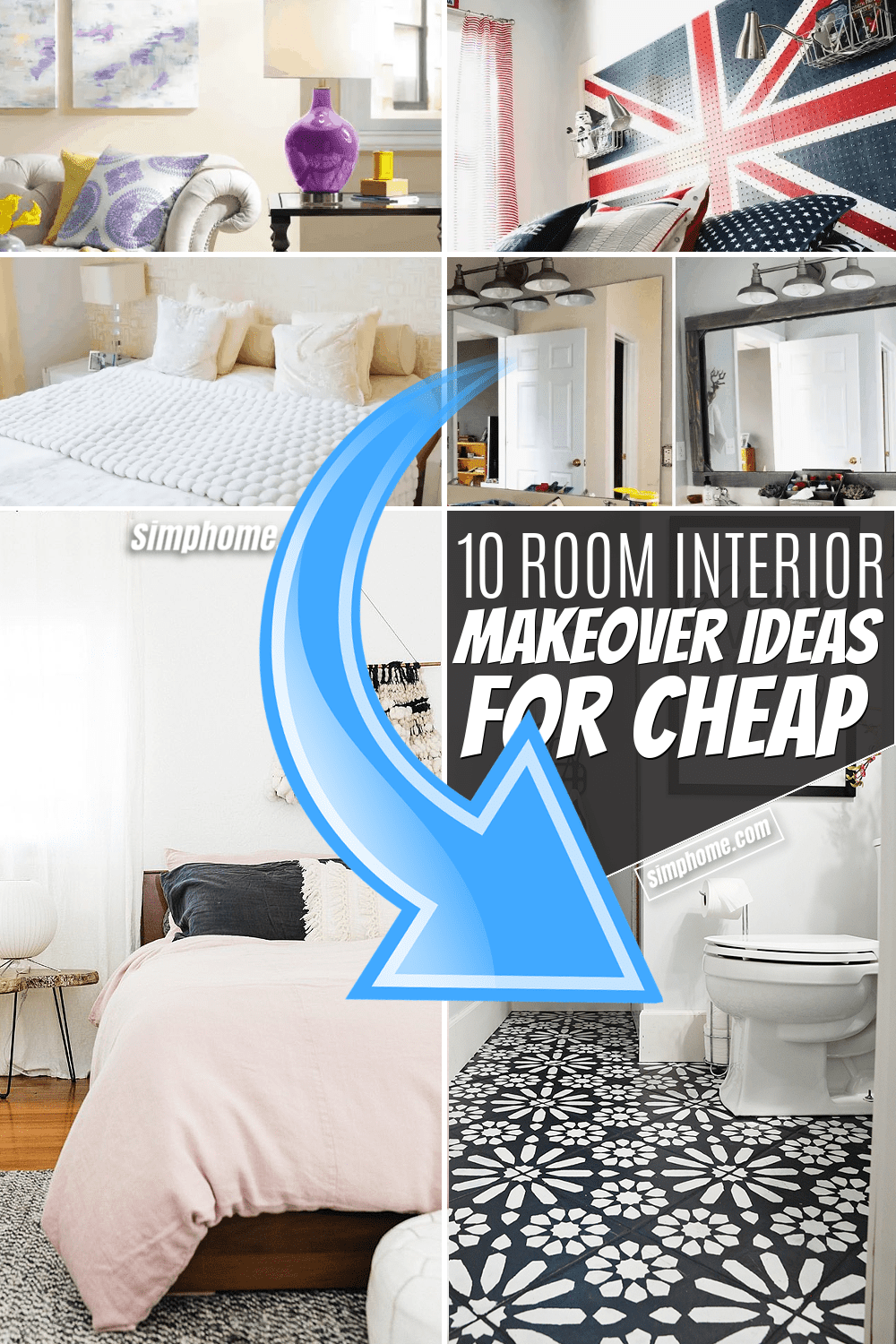 Simphome.com 10 Room Makeover Ideas for Cheap Featured image