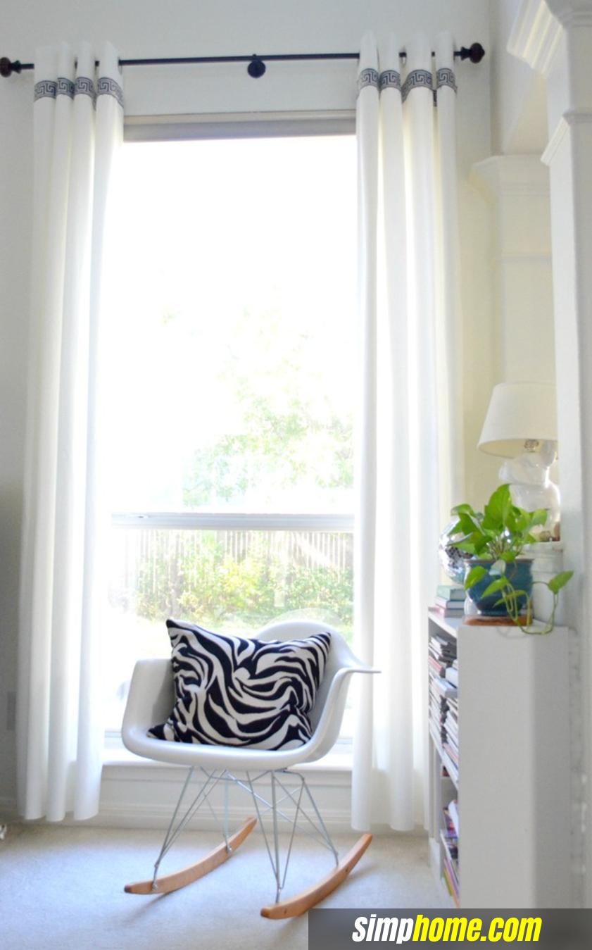 Turn Plain Ikea Curtains Into White Columns via simphome 1