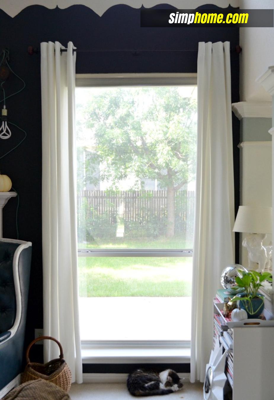 Turn Plain Ikea Curtains Into White Columns via simphome 2