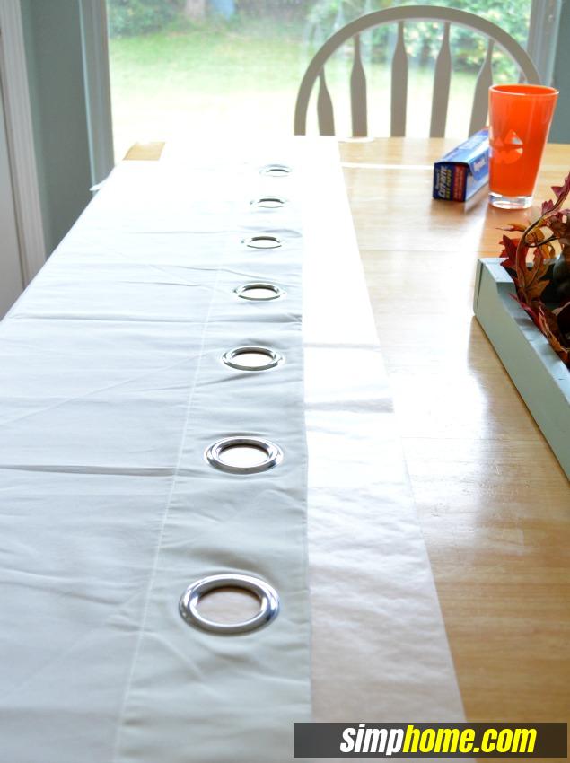 Turn Plain Ikea Curtains Into White Columns via simphome 3