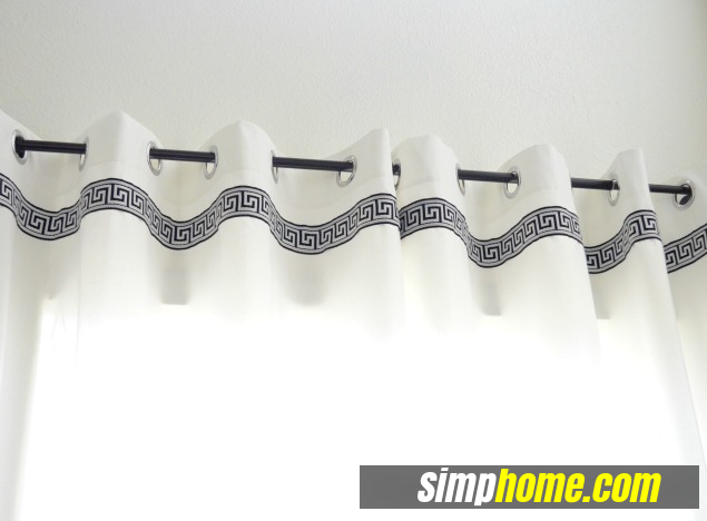 Turn Plain Ikea Curtains Into White Columns via simphome 5