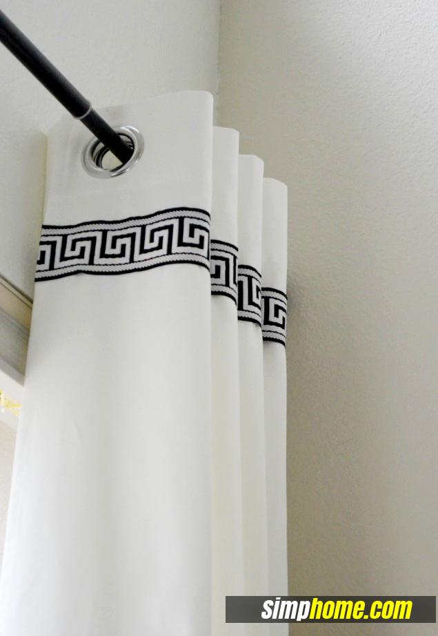 Turn Plain Ikea Curtains Into White Columns via simphome 6