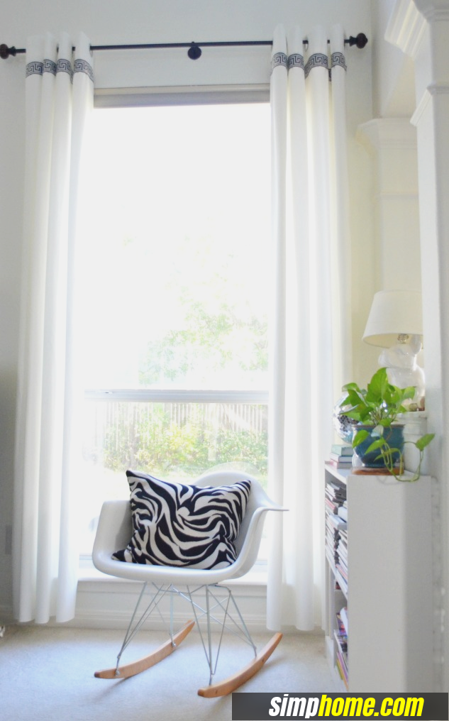 Turn Plain Ikea Curtains Into White Columns via simphome 7