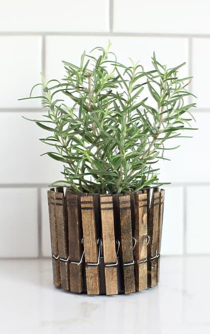1 Clothespin Herb Planter via simphome