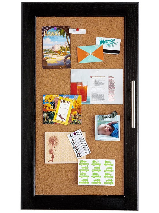 1 Corkboard Cabinet Doors via simphome