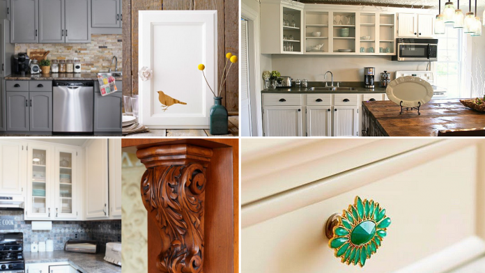 10 Cheap Cabinet Makeover Ideas for Limited Kitchen via simphome featured