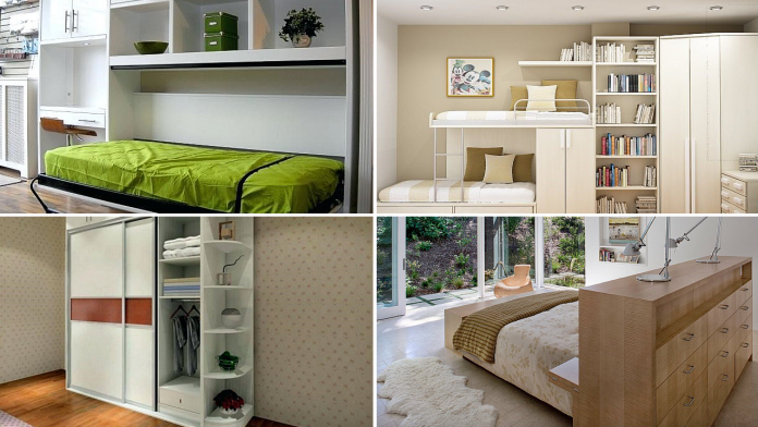 10 DIY Cabinet Ideas for Small Bedroom via simphome Featured