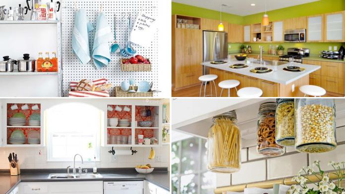 10 DIY Modern Kitchen Cabinet Ideas and Storage via Simphome featured