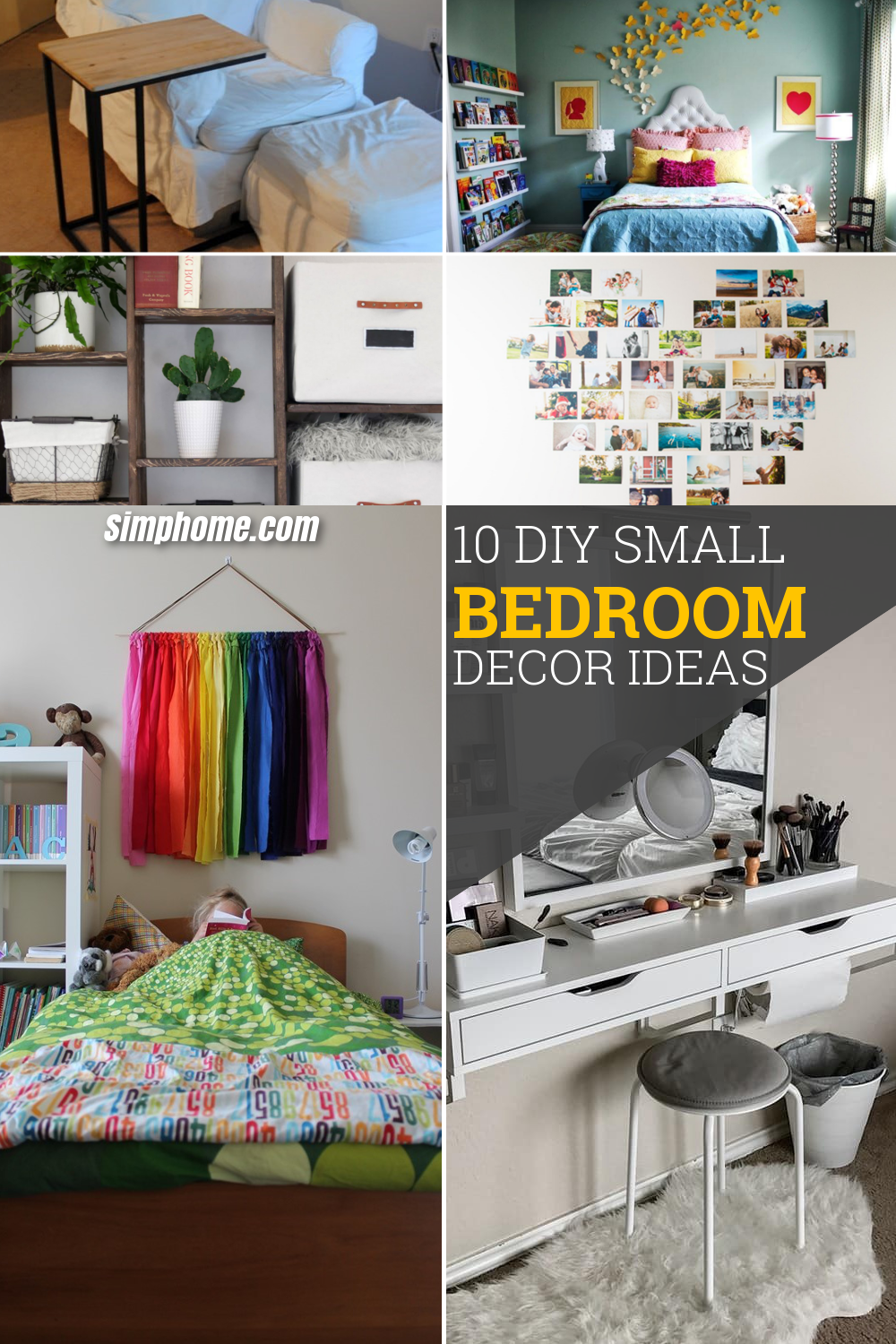 10 DIY Small Bedroom Decorating Ideas via simphome pinterest long