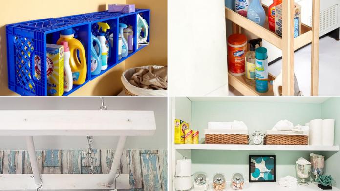 10 Small Laundry Room Organization Ideas via simphome featured