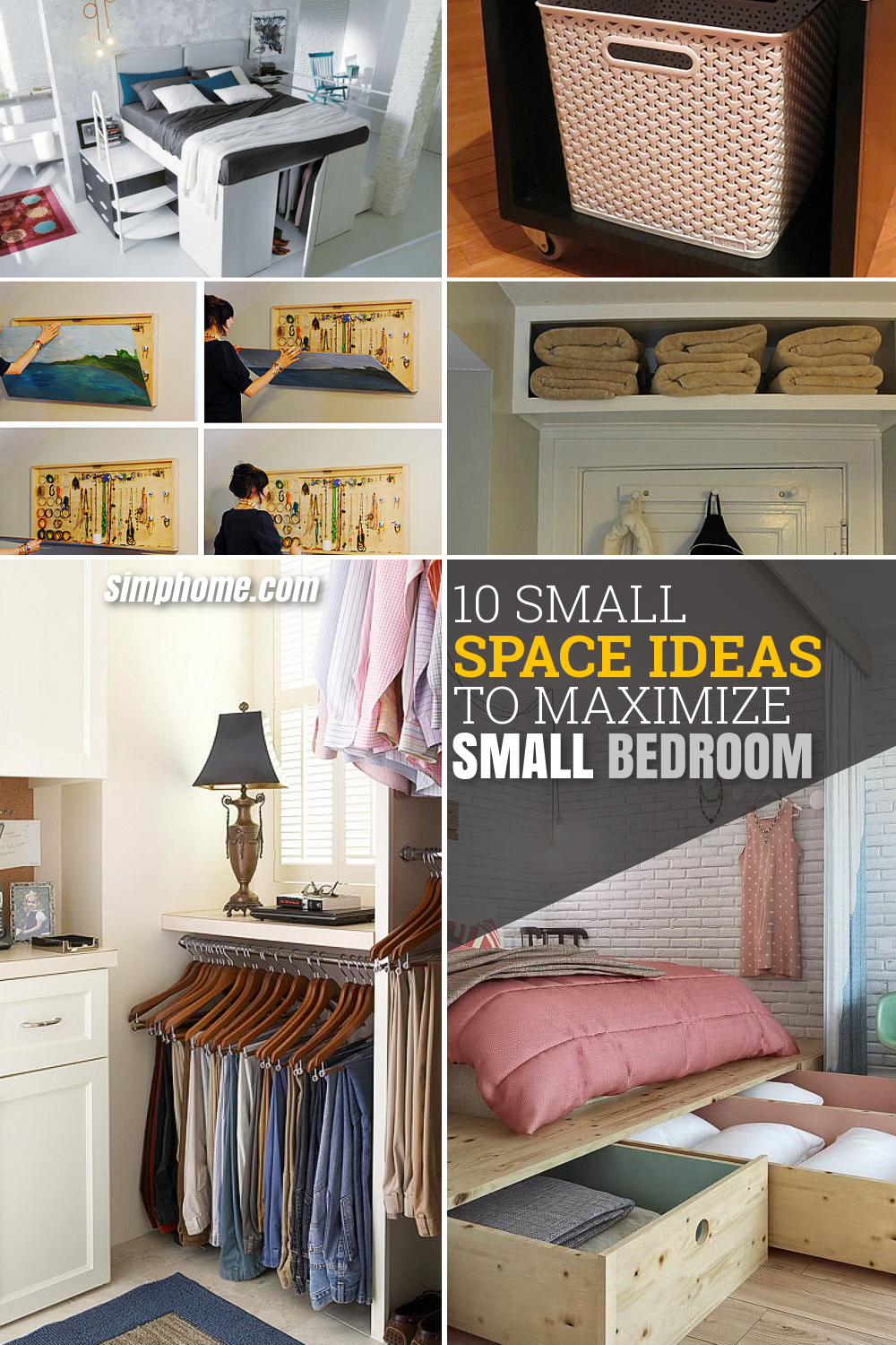 10 Small Space Ideas to Maximize Small Bedroom via Simphome long pinterest