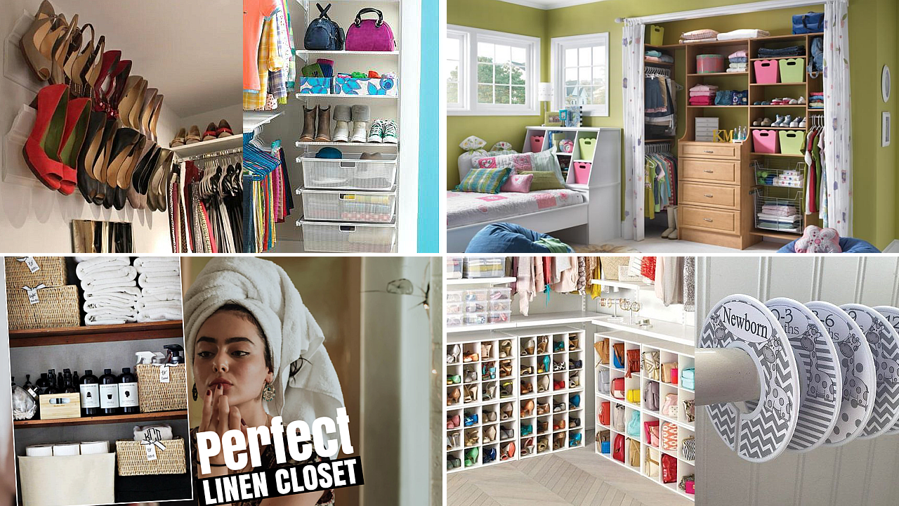 10 Smart Closet Organizations Ideas via Simphome featured