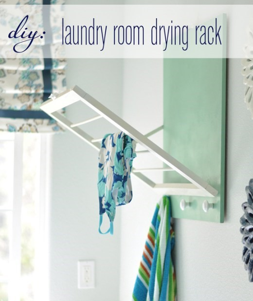 3 DIY Stylish Drying Rack via simphome