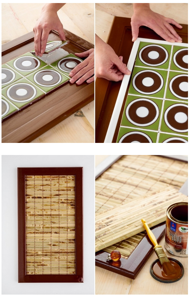 4 Asian Bamboo Cabinet Doors via simphome