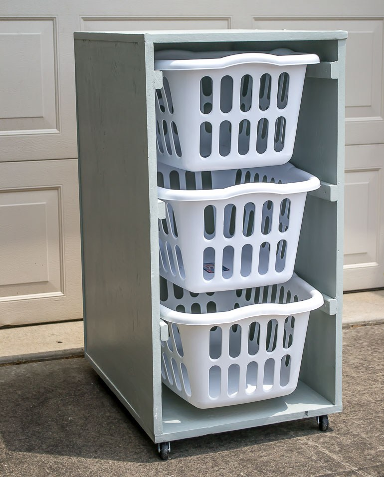4 Stack Up Your Laundry Baskets via simphome