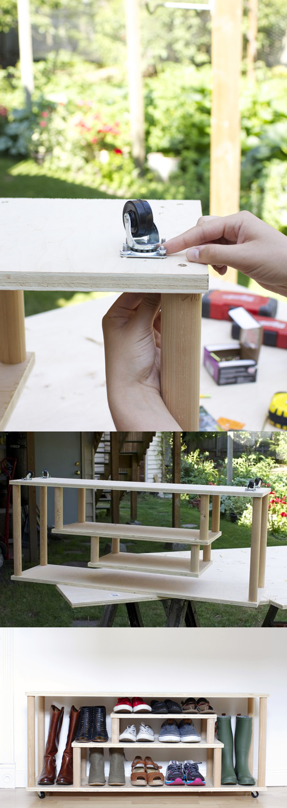 6 Movable Shoe Bench via simphome