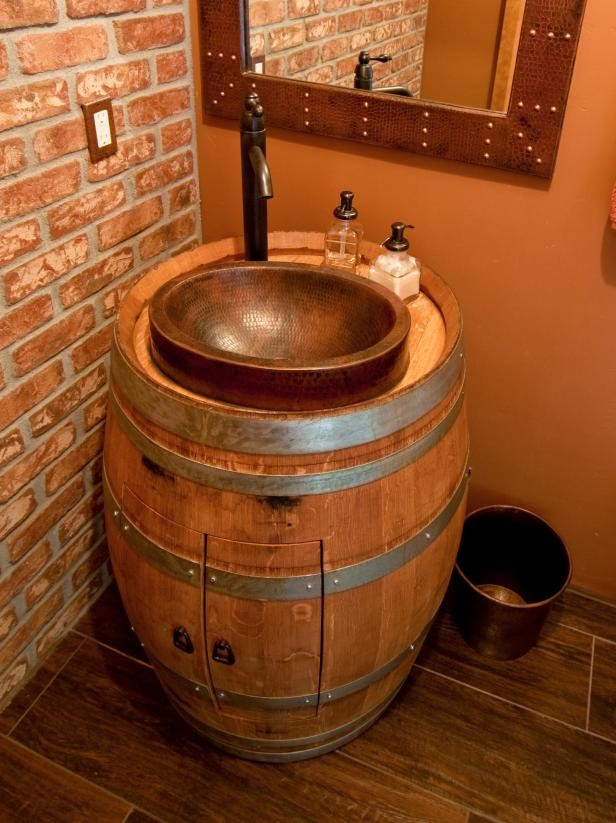 8 Wine Barrel Vanity via simphome
