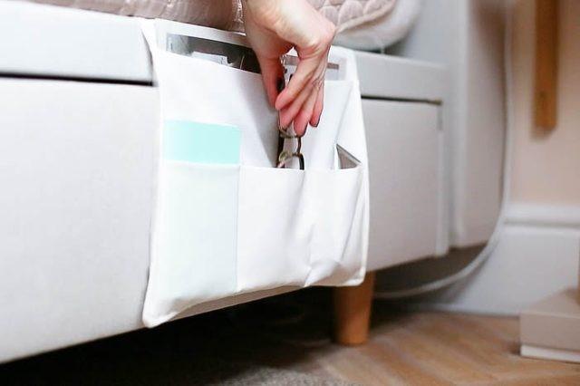 9 DIY Bedside Caddy via simphome com