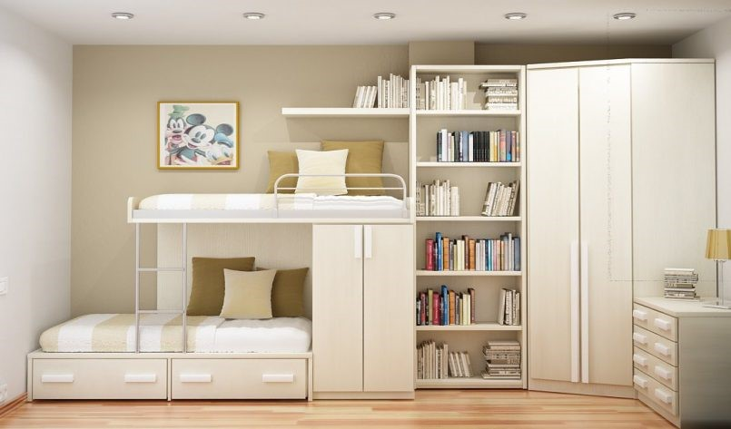 9 Space Saving Cabinets for Those who Share a Room via simphome
