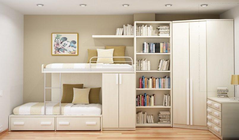 9 Space Saving Cabinets for Those who Share a Room via simphome