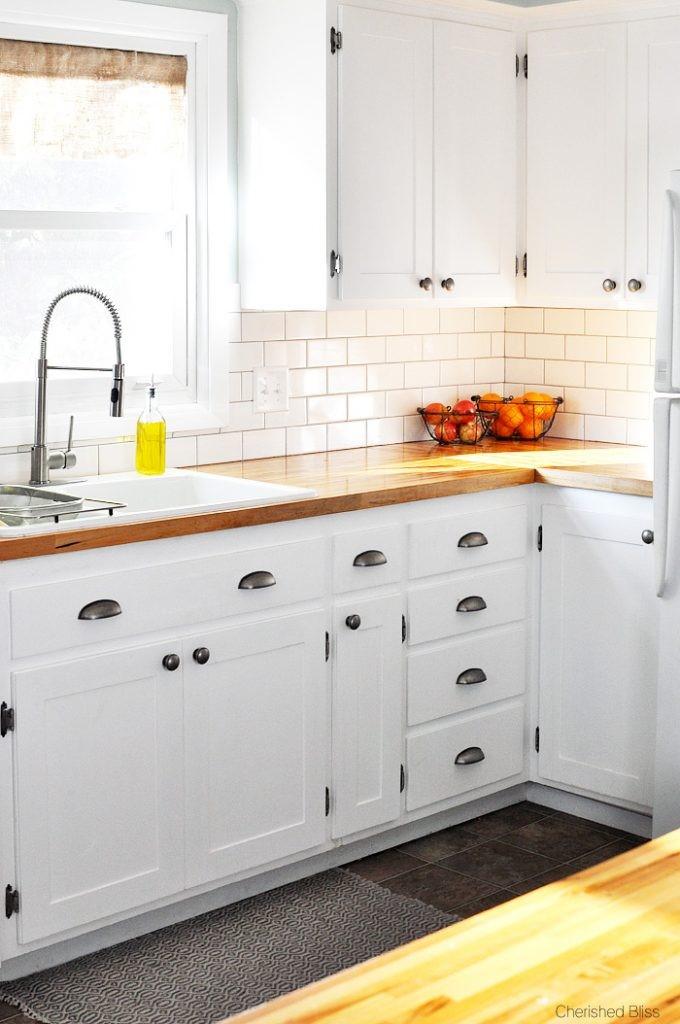9 White Shaker Cabinets via simphome