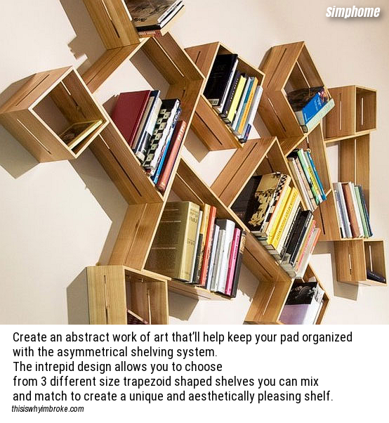 Additional 3 Asymmetrical Shelving System via simphome com